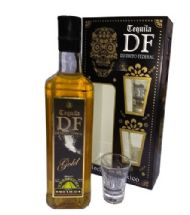 TEQUILA DF GOLD GIFT PACK CON 2 CHUPITOS